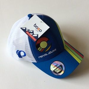 Pearl Izumi Boco Gear Technical Mesh Trucker Snapback Hat Baseball Cap NEW